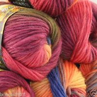 NEW Lot of 6 x50g balls Chunky Hand Coarse Knitting Rainbows Wool Quick Yarn 827