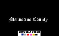 "Mendocino County California 8"" Logo Vinyl Decal Sticker Ukiah Willits Fort Bragg"