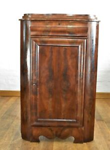 Antique large flame mahogany corner cupboard / drinks cabinet