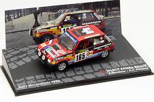 Talbot Samba Rallye #165 Rallye Monte Carlo 1984 Delecour, Pauwels 1:43 Altaya