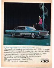 1965 Ford Galaxie 500 LTD Automobile Car 1964 Vtg Print Ad