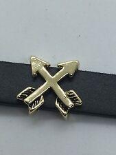 Crossed Arrow Slide charm (Gold)  for 10mm Slide Keep Bracelets