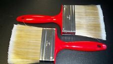 """(12)  4"""" Paint Brush Poly Blend Red plastic handle w/hang hole SECONDS RHPB12"""