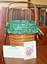 Longaberger 1995 Woven Traditions Large Peg Basket With Protector & Liner