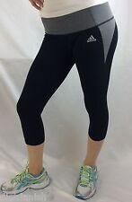 Adidas Women's Tights Capri Gray Black  Size M