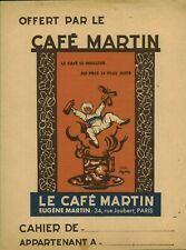 Objet de collection protège cahier café Martin Eugène Martin