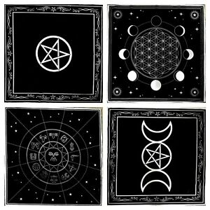 Altar Cloth Pentagram Triple Moon Pentacle Cotton Gothic Wiccan Pagan Gift