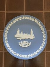 Wedgwood Pale Blue And White Jasper 1974 Christmas The House Of Parliament Plate