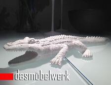 XL IMPRESSIONEN Deko Figur Krokodil Garten Teich Gartenfigur Alligator 41 cm