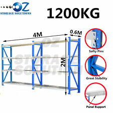 Garage Shelving Longspan Shelving Rack Warehouse Storage Shelves 2M x 4M x 0.6M