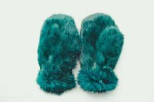 Rabbit Fur Gloves Unisex Hand Warmers Mens Mittens Gloves In Several Colors Girl