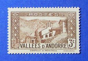 1932 ANDORRA FRENCH 3c SCOTT# 25 MICHEL # 26 UNUSED                      CS26234