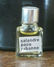 RARE Vtg CALANDRE PACO RABANNE 1 ml 1/30 oz PURE PARFUM micro mini bottle FRANCE