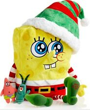 NEW MACY'S OFFL 2014 THANKSGIVING & XMAS TALKING SPONGEBOB SQUAREPANTS PLUSH TOY