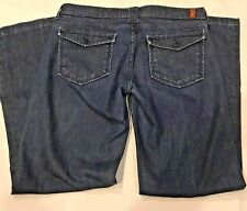 7 For All Mankind Dark Blue Jeans Womens Size 31 Style #U167J470S Boot