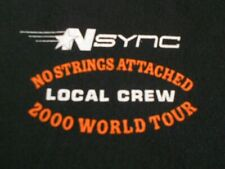 Nsync No Strings Attached 2000 World Tour Local Crew T-Shirt Xl promo concert