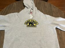 Boston Bruins Bear Logo Gray XL Hoodie Sweatshirt NHL Reebok Face Off Collection