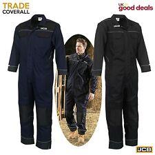 Mens JCB Coveralls Boiler suit Overalls For Mechanics Garage Workers Black Navy