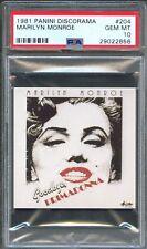 1981 Panini Discorama #204 MARILYN MONROE Album STICKER Card PSA 10 GEM MINT