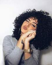 """22""""  Kinky Curly Afro Wig Long Black Synthetic Hair  Full Wigs For Women USA"""