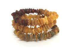 Lot 3 Natural Baltic Amber Raw rough unpolished healing bracelet set 31 g #2852