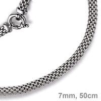 7mm Kette Collier Halskette Himbeere aus 585 Echt Gold Weißgold 50cm Goldkette