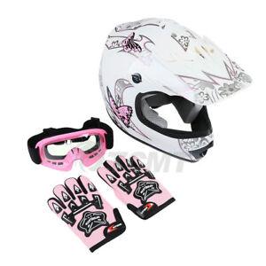 Youth Kids Motocross Helmet Child DOT ATV UTV MX OffRoad Goggles+Gloves 6 Colors