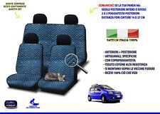 Coprisedili sedile per Fiat Panda dal 2003 al 2011 set fodere auto cotone colori