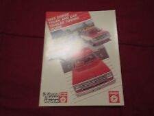 1985 DODGE CAR AND TRUCK TRAILER TOWING FACTORY ORIGINAL DEALER SALES BROCHURE