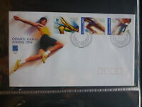 2004 AUSTRALIA ATHENS OLYMPICS SET 3 STAMPS FDC FIRST DAY COVER