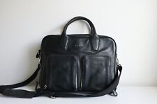 Ted Baker Black Leather Briefcase Bag w/ Tags - RRP £265 - Excellent Condition