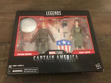 Marvel Legends Series Captain America + Peggy Carter 2 Pack New Sealed