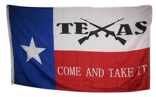3x5 State of Texas Come and Take It Crossed Rifles Rough Tex Knitted flag 3'x5'