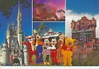Postcard FL Florida Walt Disney World Magic Kingdom EPCOT Mickey Minnie Goofy