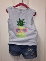 Gymboree/Carter's Girls Outfit/Set Top (Size 5), Shorts (Size 5)