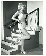 LESLIE PARRISH BUSTY LEGGY HEELS BIKINI FOLLOW THE SUN ORIGINAL '61 ABC TV PHOTO