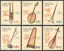 Macao 1986 Instrumentos Musicales// Tambores/Tubos/Arpa/Ameripex/stampex 6v Set (n23041)