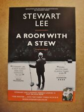 STEWART LEE -  A5 FLYER 2015 STAND UP COMEDY - A ROOM WITH A STEW TOUR UK SHOWS
