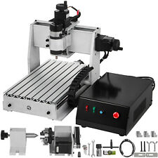 4 Axis Cnc Router 3020 Milling Machine 3d Engraver 500w Desktop 4th Rotary Axis