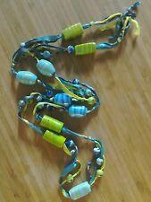 Turquesa & Collar de Abalorios & Cinta Verde Manzana Collar De Verano