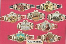 Washington Cigar Labels 9x Series 9 + 11 USA North America Indian Colonization