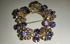 Lovely Made in Austria Rhinestone AB Aurora Borealis Brooch Pin