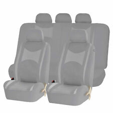 ALL GRAY HONEYCOMB MESH AIRBAG READY SPLIT BENCH SEAT COVERS SET FOR SUVS 1248