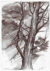 original drawing A3 156GS art samovar modern pastel tree sketch Signed 2021