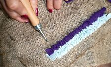 **Rug Hook Kit** 1x RUG HOOK TOOL, 1x mtr HESSIAN & Instructions-Make Rugs