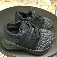 New Balance Fresh Foam Cruz v2 Black Infant Baby Shoes Sneakers Size 2 M