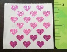 """RETIRED Sandylion Stickers 1 Square 2"""" Pink Tiny Hearts Love Romance 21 Stickers"""