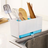 Plastic Racks Organizer Caddy Storage Kitchen Sink Utensils Holders Drainer Tool