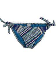 Abbigliamento blu a fantasia righe in poliestere per il mare e la piscina da donna