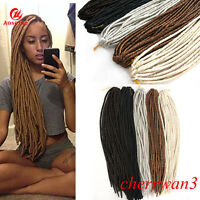 20Inch Soft Synthetic Faux Locks Crochet Dreadlocks Braids Dread Hair Extensions